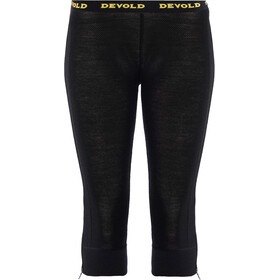 Devold Wool Mesh Zip-Off Capri Housut Naiset, black